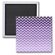 Zigzag Purple Chevron Pattern Magnet