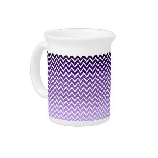 Zigzag Purple Chevron Pattern Drink Pitcher