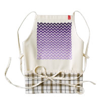 Zigzag Purple Chevron Pattern Zazzle HEART Apron