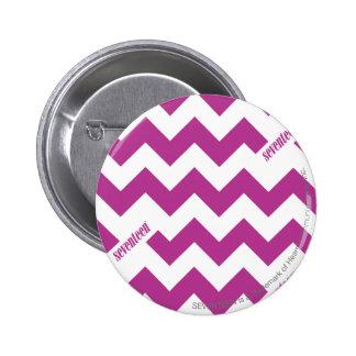 ZigZag Purple Pinback Button