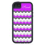¡Zigzag púrpura de Chevron del monograma - escoja  iPhone 5 Case-Mate Coberturas
