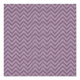Zigzag púrpura de Ikat Chevron de la lila del Perfect Poster