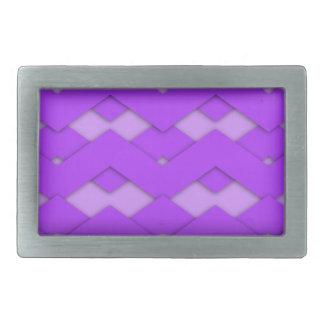 Zigzag púrpura hebillas de cinturon rectangulares