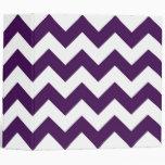 Zigzag púrpura y blanco