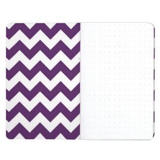 Zigzag púrpura y blanco cuaderno