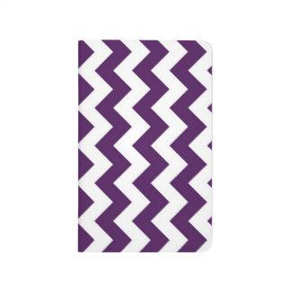 Zigzag púrpura y blanco cuaderno grapado