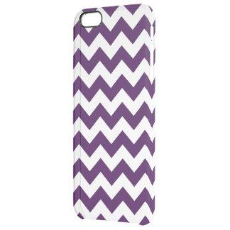 Zigzag púrpura y blanco funda clearly™ deflector para iPhone 6 plus de unc