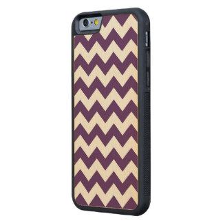 Zigzag púrpura y blanco funda de iPhone 6 bumper arce