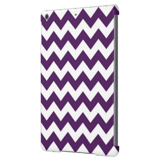 Zigzag púrpura y blanco funda para iPad air
