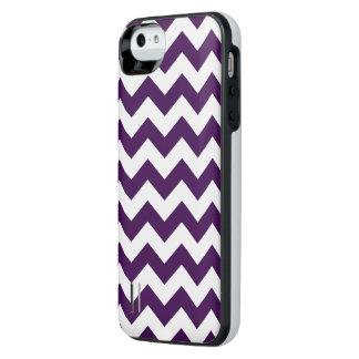Zigzag púrpura y blanco funda power gallery™ para iPhone 5 de uncommon