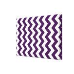 Zigzag púrpura y blanco impresion en lona
