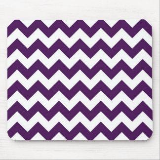 Zigzag púrpura y blanco tapetes de raton