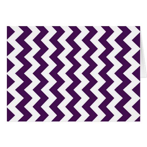 Zigzag púrpura y blanco tarjeta de felicitación