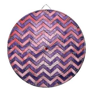 Zigzag púrpura y rosado tabla dardos