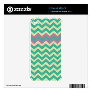 Zigzag rayado púrpura de la frontera iPhone 4 skins