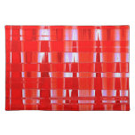 ZIGZAG RED PLACE MATS