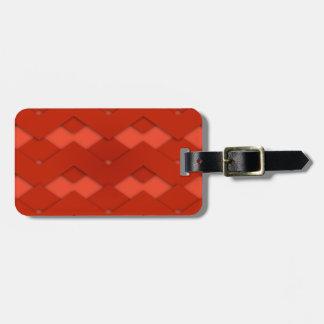 Zigzag rojo etiqueta de equipaje