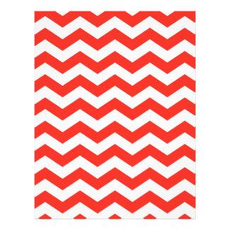 Zigzag rojo y blanco membrete a diseño