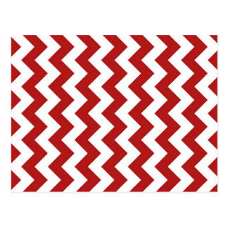 Zigzag rojo y blanco postal