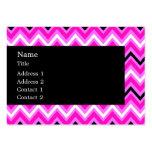 Zigzag rosado, blanco y negro plantillas de tarjetas de visita