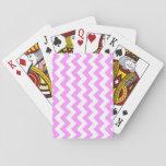 Zigzag rosado y blanco cartas de juego