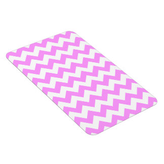 Zigzag rosado y blanco imanes flexibles