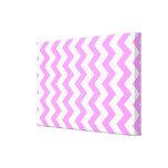 Zigzag rosado y blanco impresiones en lona