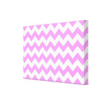 Zigzag rosado y blanco lienzo envuelto para galerias