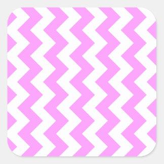 Zigzag rosado y blanco pegatina