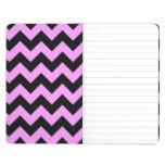 Zigzag rosado y negro cuaderno