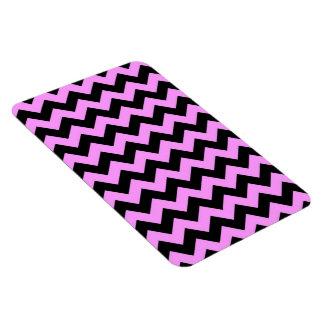 Zigzag rosado y negro iman flexible