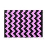 Zigzag rosado y negro iPad mini cobertura