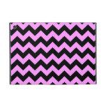 Zigzag rosado y negro iPad mini funda