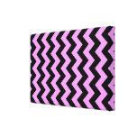 Zigzag rosado y negro lona estirada galerias