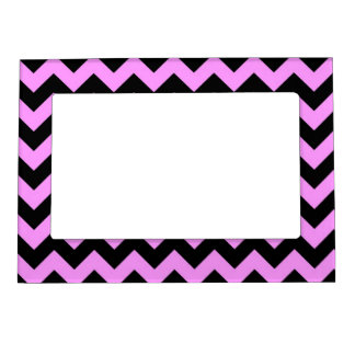 Zigzag rosado y negro marcos magneticos