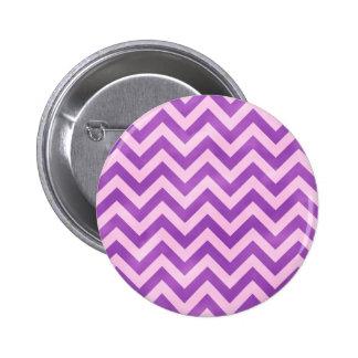 Zigzag rosado y púrpura pin redondo de 2 pulgadas