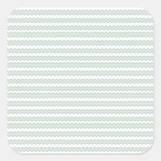 Zigzag Sea Anemone Square Sticker