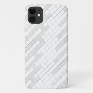 zigzag squares in gray... iPhone 11 case