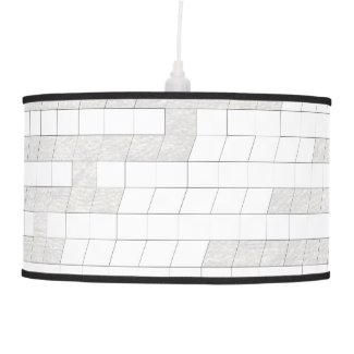zigzag squares in gray... ceiling lamp