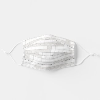 zigzag squares in gray cloth face mask