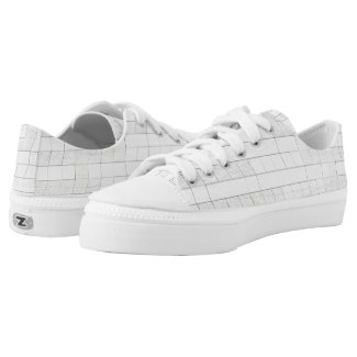 zigzag squares in gray... Low-Top sneakers