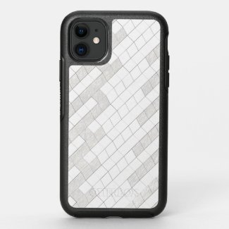zigzag squares in gray... OtterBox symmetry iPhone 11 case