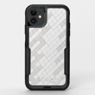 zigzag squares in gray... OtterBox commuter iPhone 11 case