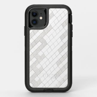 zigzag squares in gray... OtterBox defender iPhone 11 case