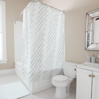 zigzag squares in gray... shower curtain