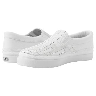 zigzag squares in gray... Slip-On sneakers