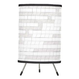 zigzag squares in gray... tripod lamp