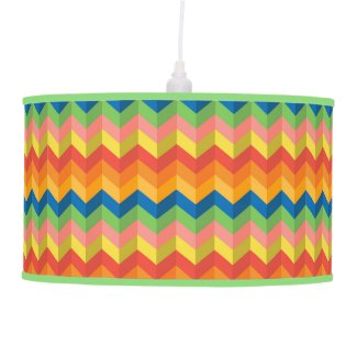 zigzag stripe hanging lamp