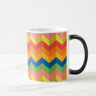 zigzag stripe Magic Mug