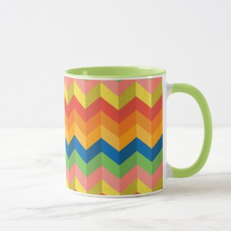 zigzag stripe mug